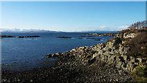 NG7529 : Coast at Badicaul by Julian Paren