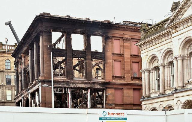 Primark (Bank Buildings) fire, Belfast - February 2019(1)