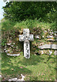 SX7075 : Old Wayside Cross by Cross Gate crossroads by Milestone Society