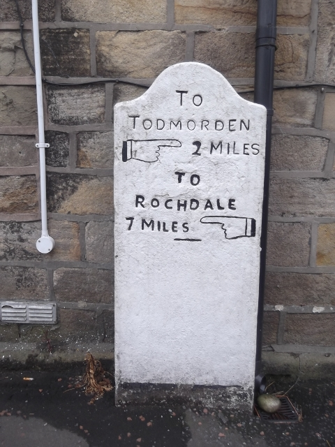 Old Milestone by the A6033, Rochdale Road, Walsden