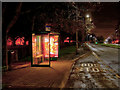 SJ9125 : Bus Shelter on Stone Road by David Dixon