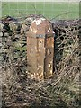 SD5299 : Old Milepost by the A6, Selside, North Gateside Farm by CF Smith