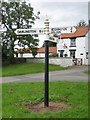 NZ2221 : Old Direction Sign - Signpost by Milestone Society