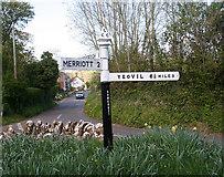 ST4613 : Direction Sign - Signpost in West Chinnock by J Dowding