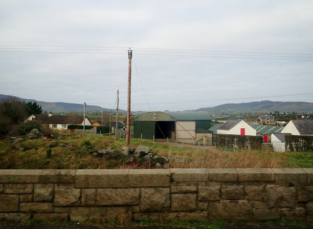Farm on the north side of Dublin to Belfast Railway line at Killeen Bridge