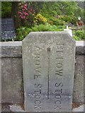 NY3704 : Old Boundary Marker by Milestone Society