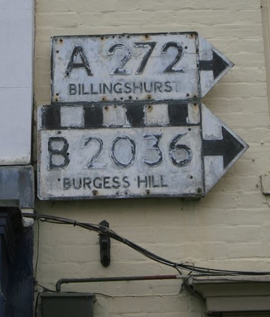 Old Direction Sign - Signpost, High Street, Cuckfield