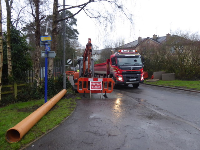 Water pipeline laying, Cranny