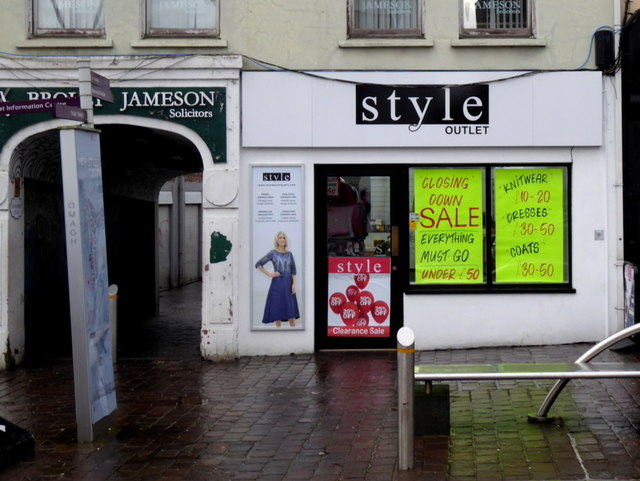 Closing down sale, Style Outlet, Omagh