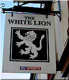SN9903 : White Lion name sign, Gadlys Road, Aberdare by Jaggery
