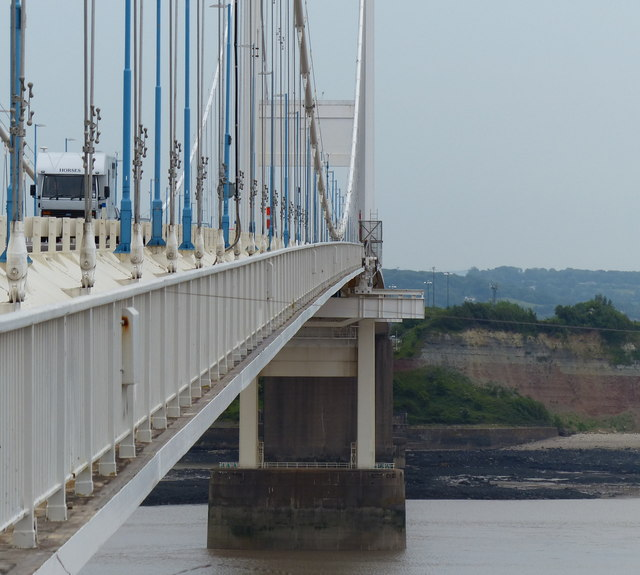 Severn Bridge crossing the River Severn