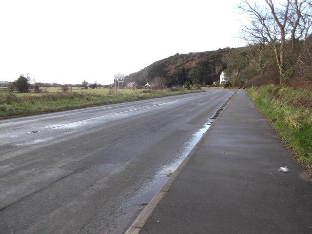 A497 approaching Pwllheli