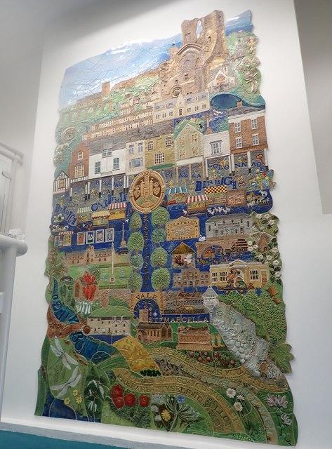 Mural in Denbigh library