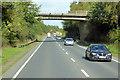 NX9576 : Bridge over the A75 at Summerhill by David Dixon