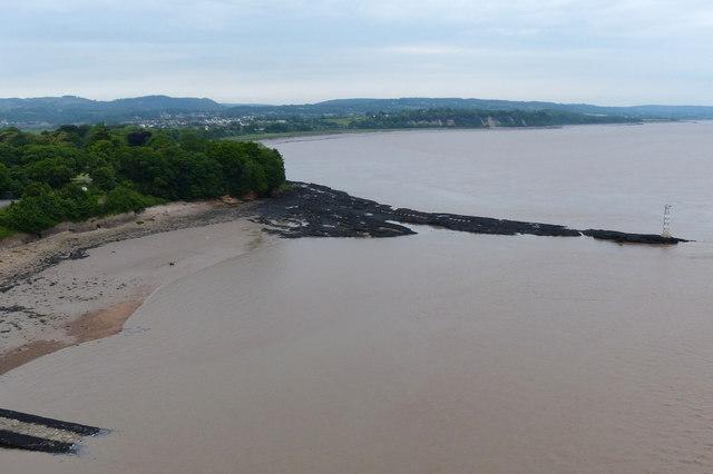 River Severn shoreline at Beachley