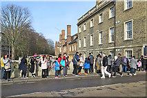 TL4458 : Tourists on Silver Street Bridge by John Sutton