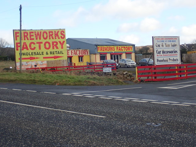 Fireworks factory close to the border on Dublin Road