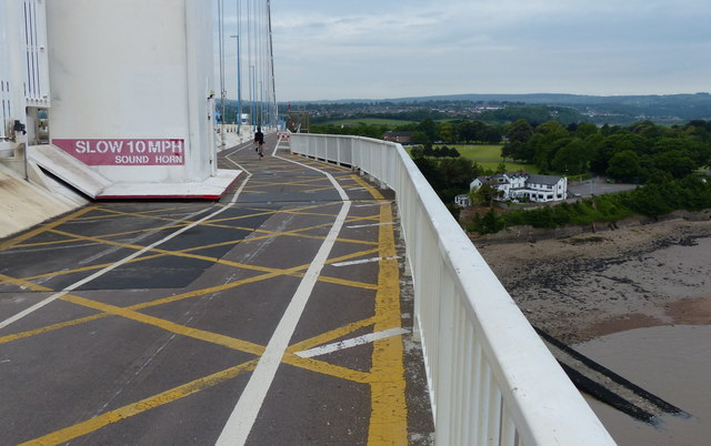 Cycleway and footpath on the Severn Road Bridge