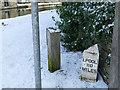 SE0941 : Milestone next to Morton swing bridge by Stephen Craven