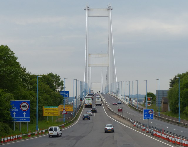 M48 motorway and the Severn Bridge