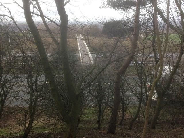 Footbridge over M62 at New Hey Road