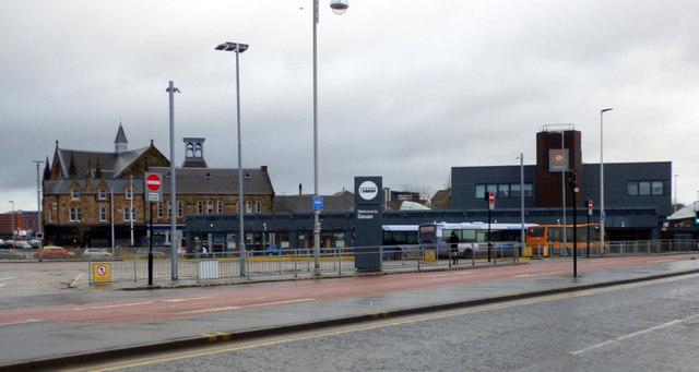 Govan bus and subway station