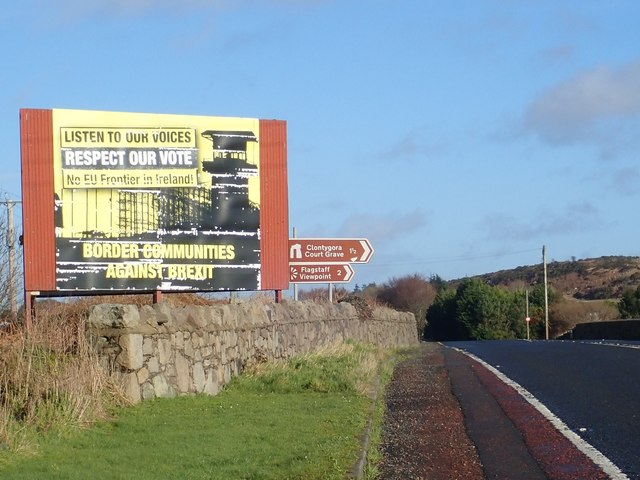 The Southern, sunny, side of the Killeen Bridge Anti-Brexit Poster