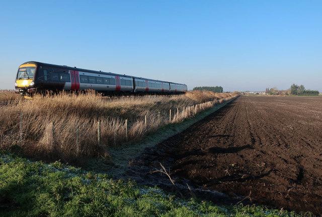 Cross Country train, North Fen