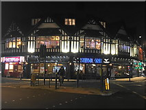 SJ8588 : Mock Tudor building in Cheadle town centre by Bill Boaden