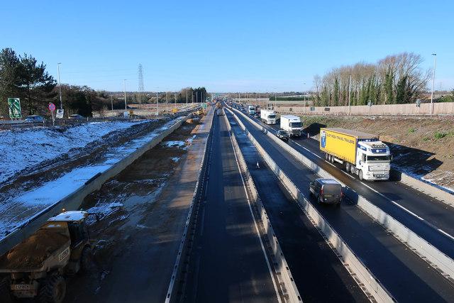 A14 roadworks