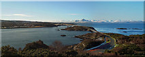 NG7426 : Kyelakin and the Skye Bridge from the Plock of Kyle by Julian Paren