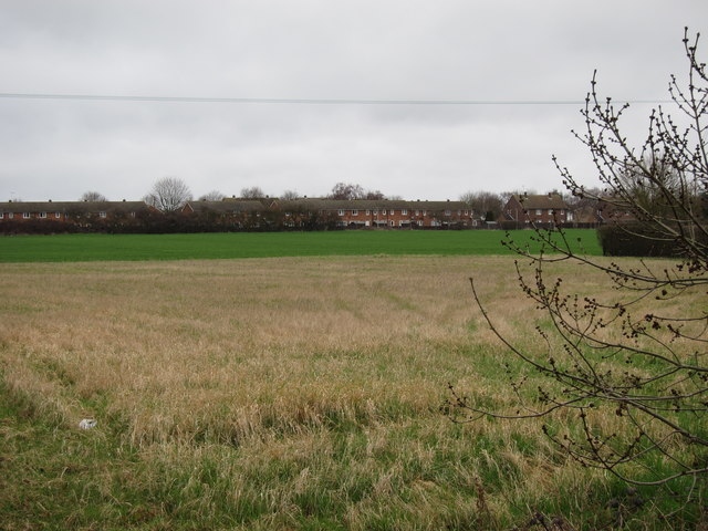 Field by Waterbeach Barracks