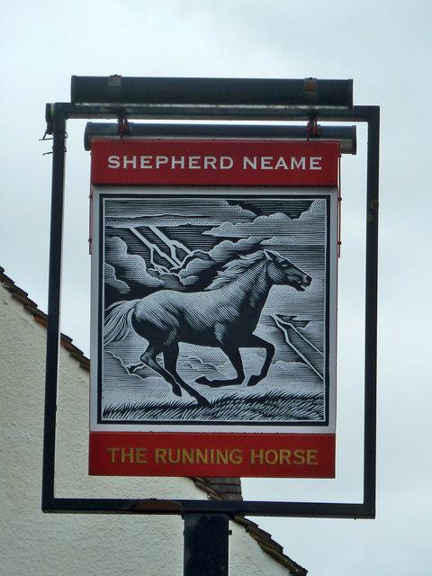 Inn sign - The Running Horse, Leatherhead