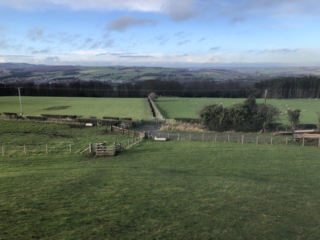 Farmland above Gibside