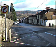 SN9903 : No Right Turn sign, Glan Road, Aberdare by Jaggery