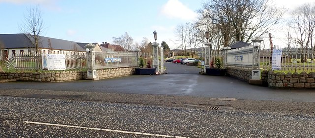 The main gates of the Cuan Mhuire Centre