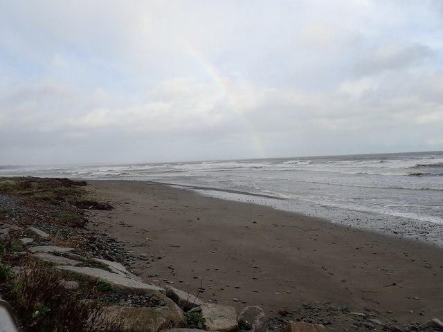 Rainbow over the beach at Newcastle