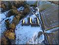 NH5041 : Bruiach Farm Steading aerial by Craig Wallace
