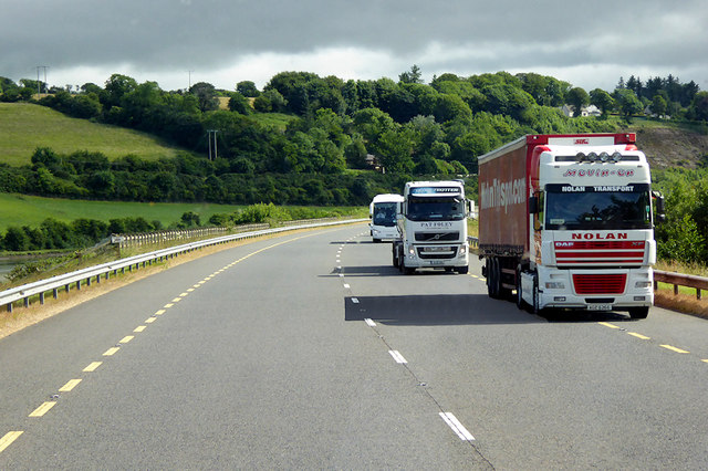 HGVs Heading South on the N25 near Youghal