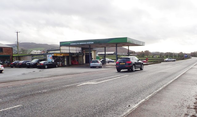 Donnelly's Service Station on the B113 (Dublin Road)