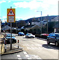 SN9902 : Zebra crossing warning sign, Gadlys Road, Aberdare by Jaggery