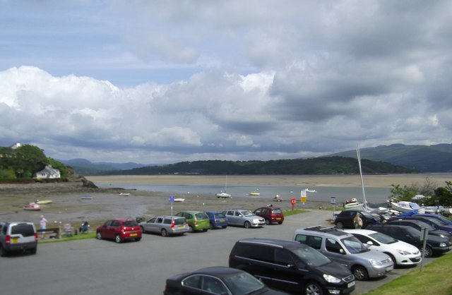 Tide's out at Borth-y-Gest