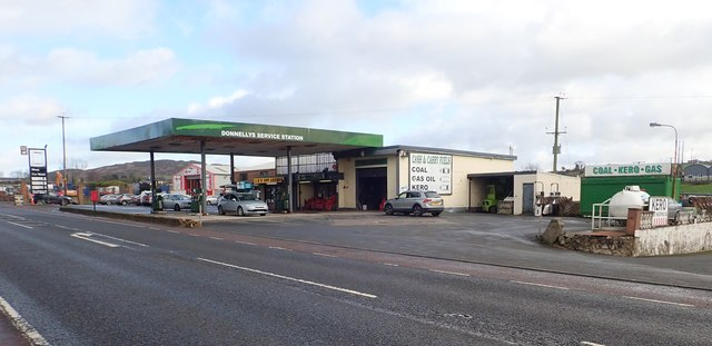 Donnelly's Service Station on the Dublin Road