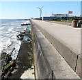 TM5594 : North Denes Sea Wall at Lowestoft by Mat Fascione
