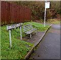 ST0696 : Metal bench, Pentwyn Avenue, Tyntetown by Jaggery
