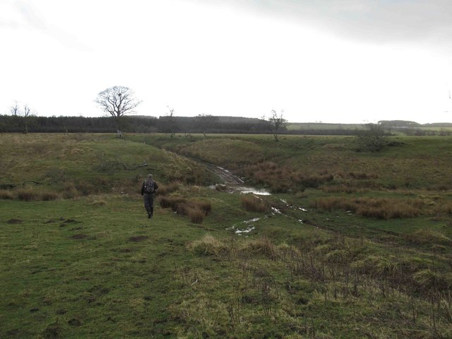 Bridleway and Ford through Unnamed Burn