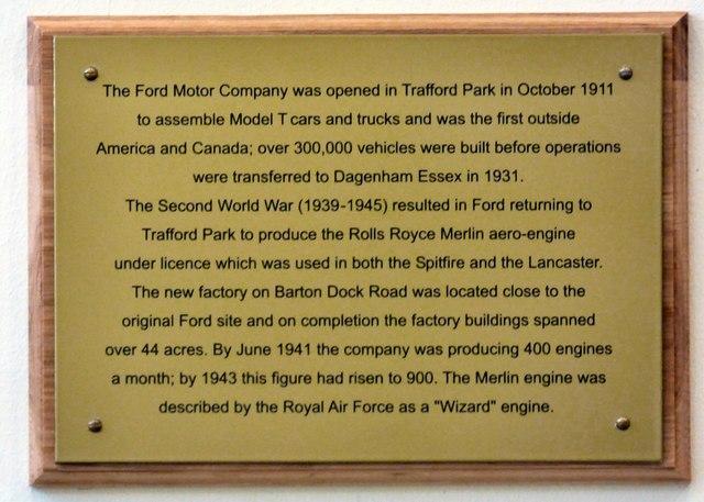 Ford Motor Company at Trafford Park