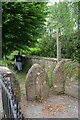 ST4710 : Squeeze stile, footpath by Church of St Michael and All Angels, Haselbury Plucknett by Colin Cheesman