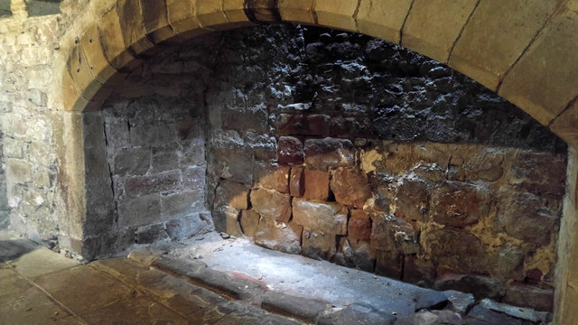 Fireplace in the Banqueting Hall, Skipton Castle
