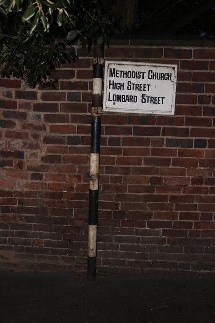 Old fingerpost on Parkes Passage, Stourport